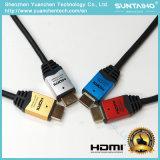 Cable plateado oro de aluminio de alta velocidad del shell 24k HDMI para el ordenador