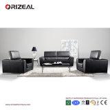 Sofá Comfy do couro do preto da dobradura de Orizeal grande (OZ-OSF005)