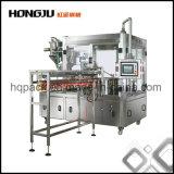 Enchimento jorrado do malote e maquinaria tampando para produtos líquidos