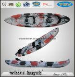2 + 1 Asientos Familia Pesca Ocean Kayak con levas