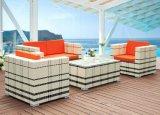 一定の屋外の家具の藤の家具4部分の藤のソファーの