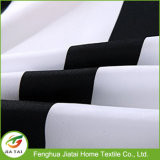 Black White Horizontal Striped Fabric Cortina de Chuveiro do banheiro