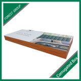 Caja de embalaje del cabecero acanalado reciclable con la maneta del portador