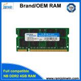 휴대용 퍼스널 컴퓨터를 위한 가득 차있는 호환성 DDR2 4GB 256MB*8 램 기억 장치