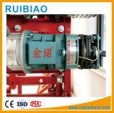 Motor de la grúa trabaja con gusano y reductor de grúa de construcción