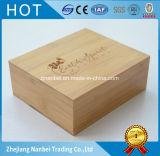 Rectángulo de empaquetado de bambú del rectángulo de regalo de la insignia de encargo