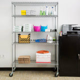 Книжные полки провода металла яруса DIY 5 для дома/хранения и организации офиса