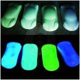 Resplandor fluorescente de neón del polvo del pigmento luminoso del polvo del fósforo en obscuridad
