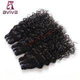 L'armure indienne de cheveux humains du cheveu 100% d'onde d'eau empaquette le noir normal de prolonge de cheveu de Remy de 1 partie non