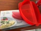 Omeleleira De Silicone Container / Cook Omeletes lisos no Microondas