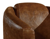 Hot Sell Living Room Sofá cadeira Vintage Leather Fauteira