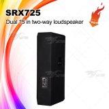 SRX725 Doble de 15 pulgadas Sistema PA Speaker Gabinete