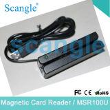 3 vía USB Lector de tarjetas de crédito magnética (MSR100U).