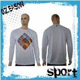 Long modèle de chemise de la chemise des hommes avec l'impression de Sublimaiton (T007)