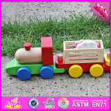 2016 het Nieuwe Stuk speelgoed W04A281 van de Trein van de Jonge geitjes van de Manier van het Ontwerp Houten