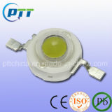 1W Cool White High Power LED, 6000-7000k, 120-130lm, 140-160lm, Lm80