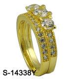Juwelen 925 van de Manier van de fabriek In het groot de Zilveren Ring van het Paar