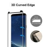 Delle cellule curve 2017 protezione amichevole per Samsung, galassia S8 dello schermo di vetro Tempered di caso della protezione dello schermo 3D di vendita calde di copertura totale/telefono mobile di Samsung più