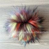 De boa qualidade Fake Racoon Fur Ball Fox de prata Fox Faux Fur Ball