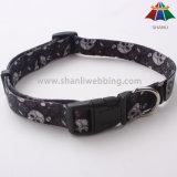 De alta calidad impresa Heat-Transfer Hot-Sale 15mm poliéster ajustable Collar de perro