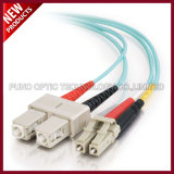 IL LC UPC a Sc UPC su un lato o collega i ponticelli in duplex ottici della fibra multimoda di 2.0mm LSZH 10G OM3