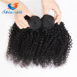 Beauty 1 Piece Mongolian Afro Kinky Curly Cheveux Humains Tissage Natural Black 10-22inch Remy Hair