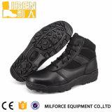 De nieuwe Laarzen van het Leer van het Ontwerp Zachte Goedkope van de Politie Cordura &