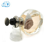 Frasco de perfume de vidro 100ml da flor Ad-P335 de alumínio