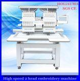 2ヘッド8インチのタッチ画面のDahaoの制御システムの帽子の衣服の平らな刺繍のためのコンピュータ化された刺繍機械