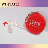 79inch Logo Keychain Promotionnel Rouge Flexible 2m Mini Ruban à Mesurer