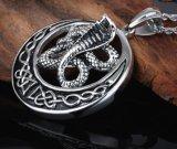 Punk animal serpiente collar de joyería de acero inoxidable colgante