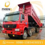 저가 아프리카를 위한 사용된 HOWO 덤프 트럭 12 바퀴 371HP 40tons 우수한 상태 사용
