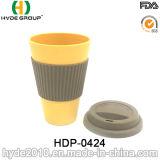 450ml biodegradierbares BPA geben Bambusfaser-Kaffeetasse frei (HDP-0421)