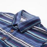 متأخّرة قميص [كتّون/] بوليستر لأنّ رجال زاهية [ستريبد] تماما يطبع [بولو شيرت]