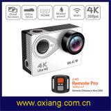 de 4k câmera da ação ultra HD câmera impermeável do esporte de WiFi do ângulo de uma opinião de 170 graus