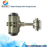 Metal da linha à válvula de esfera do metal