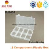 Boîte en plastique claire de 8 compartiments