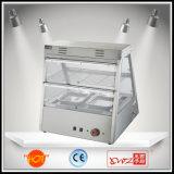 Dh-2*2 Twee Lagen Twee Vertoning van het Verwarmingstoestel van het Voedsel van de Showcase van het Dienblad de Verwarmende