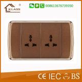 Nuevo diseño de color marrón 16A timbre interruptor
