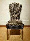 Античный Stackable цветастый стул древесины задней части креста