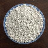 熱い! 食品等級20% Anatase TiO2の食品等級TiO2白いMasterbatchか吹く60% TiO2カラー白Masterbatchの白いMasterbatch