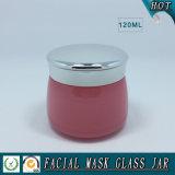 vert 120ml et choc cosmétique en verre coloré par rose