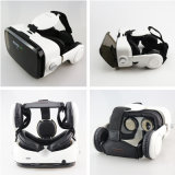 가죽 3D 마분지 헬멧 가상 현실 헤드폰 입체 음향 상자 Vr 유리