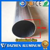 Profil en aluminium en aluminium personnalisé de tube rond de diamètre avec anodisé