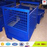 Jaula de acero plegable del acoplamiento del almacenaje del almacén del precio bajo