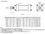 Cilindro hidráulico de haste de ligação leve Mob100 * 150 Máquina hidráulica Cilindro de óleo com CB Orelha dupla