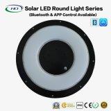luz redonda solar de 25W LED con Bluetooth APP