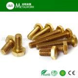 Boulon Hex de tête d'hexagone d'en cuivre en laiton d'alliage (DIN933 DIN931)