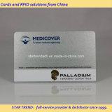 Cartão de tarja magnética de prata impressão de PVC para membros VIP