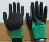 13 указатели полиэстера с покрытием из пеноматериала из латекса безопасность рабочей перчатки для защиты